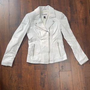 NWOT Danier Leather White Leather Jacket